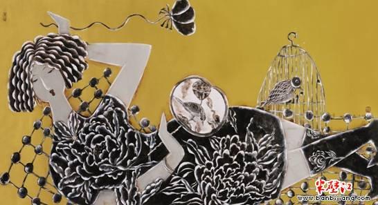 专访中国著名工笔重彩画家曹娜女士 睿智的曹娜向前进
