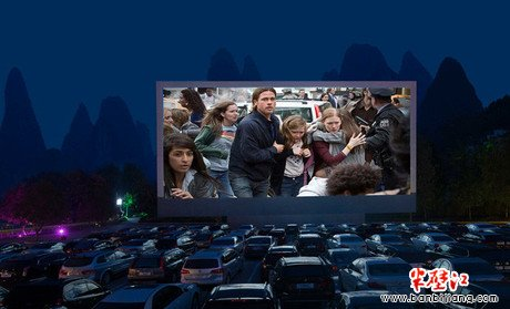 爱在创意:汽车影院图片