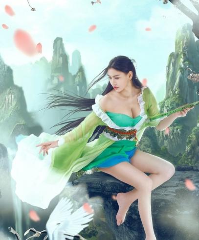 PlayGirl桂林美人亮相,长腿酥胸古装惊艳