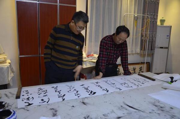 甘肃书法家李崇选受邀来北京书法艺术交流(图)