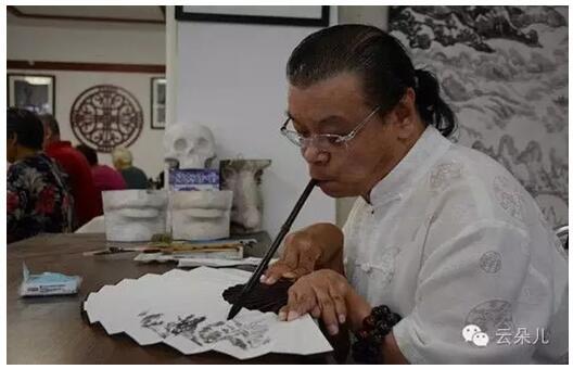 丈八神矛生威风  米二毛笔画坛无――专访沈阳著名画家杨宗先生