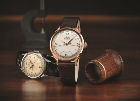 """2018巴塞尔抢先看,瑞士美度表舵手系列1939年复刻版""""中央指针式日历""""限量款腕表"""