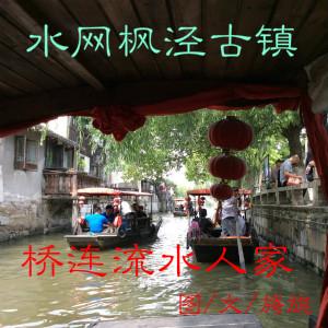 水网枫泾古镇,桥连流水人家